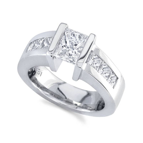 Tension Set Princess Cut Diamond Ring - CDS0124