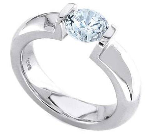 Tension Set Round Brilliant Diamond Ring - CDS0127