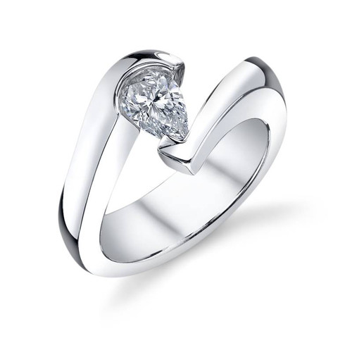 Tension Set Pear Shape Diamond Ring - CDS0129