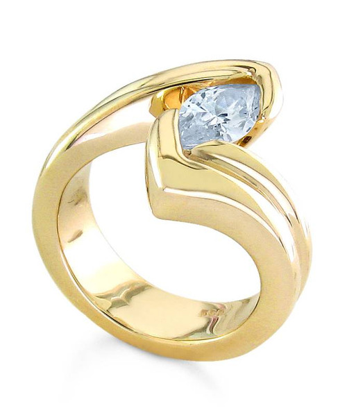 Tension Set Marquise Cut Diamond Ring - CDS0130