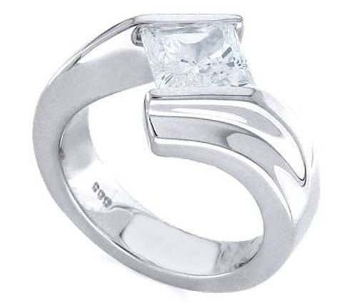 Tension Set Princess Cut Diamond Ring - CDS0131