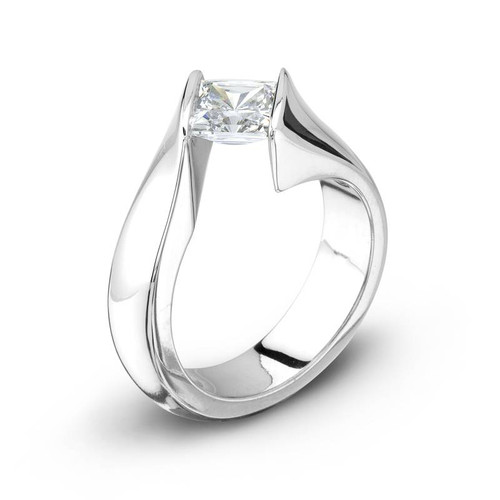 Tension Set Princess Cut Diamond Ring - CDS0132