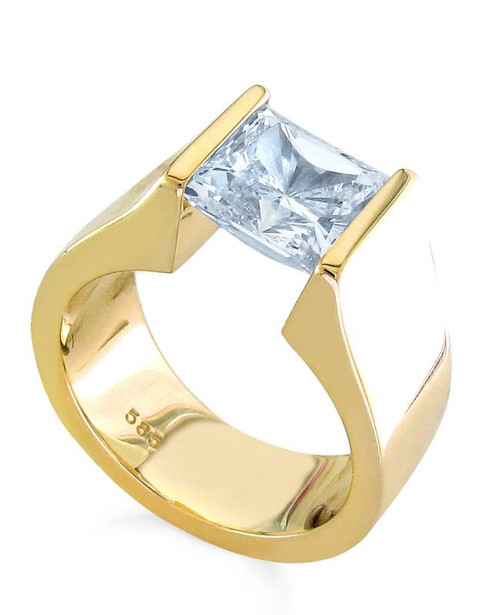 Tension Set Princess Cut Diamond Ring - CDS0135