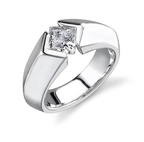 Tension Set Princess Cut Diamond Ring - CDS0137