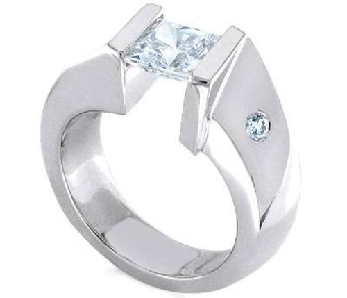 Tension Set Princess Cut Diamond Ring - CDS0140