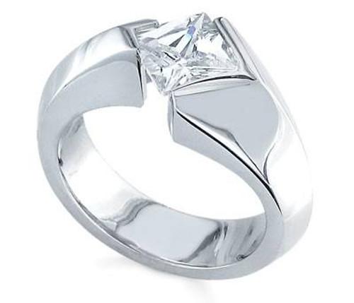Tension Set Princess Cut Diamond Ring - CDS0141