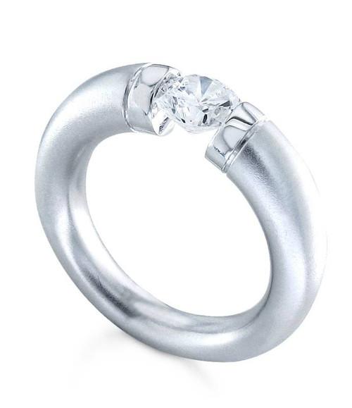 Tension Set Round Brilliant Diamond Ring - CDS0144