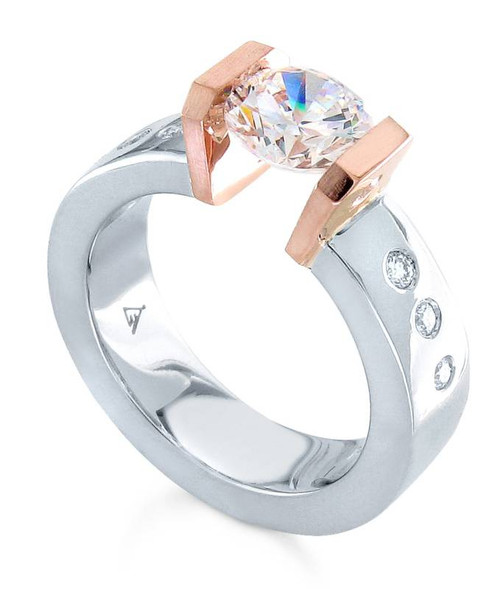 Tension Set Round Brilliant Diamond Ring - CDS0146
