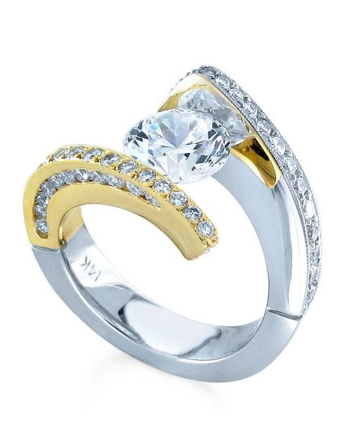 Tension Set Round Brilliant Diamond Ring - CDS0148