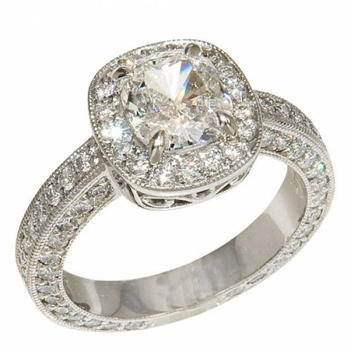 Antique Halo Style Diamond Encrusted Ring - CDG0150