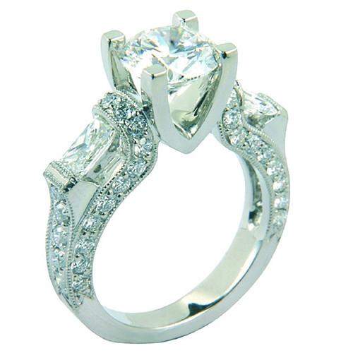 Three Stone Antique Designer Ring - CDG0157