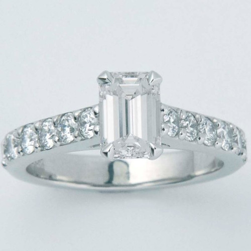 Classic Crown Ring with Large Diamond Pave Shank - CDG0161