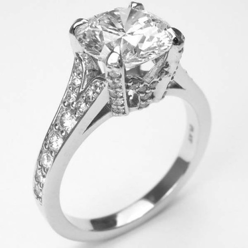 Cathedral Crown Signature Split Shank Engagement Ring - CDG0175