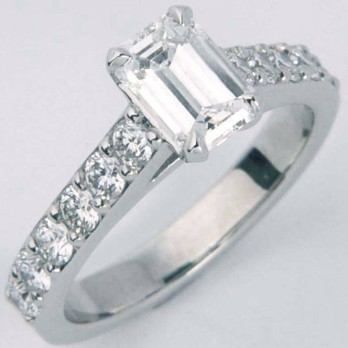 Modern Design Engagement Ring with Shared Prong Shank - CDG0178