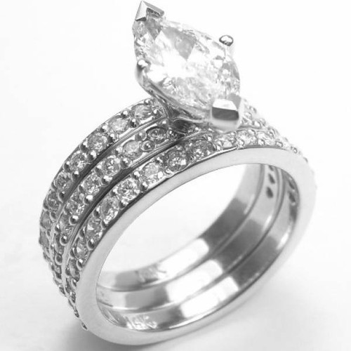 Triple Shank Pave Engagement Ring - CDG0179