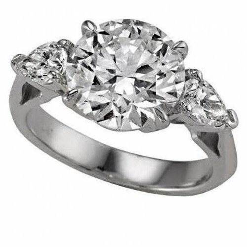 Three Stone Past-Present-Future Engagement Ring - CDG0183