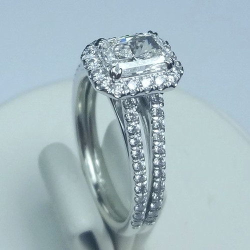 Split Shank Pave Halo Ring - CDG0187