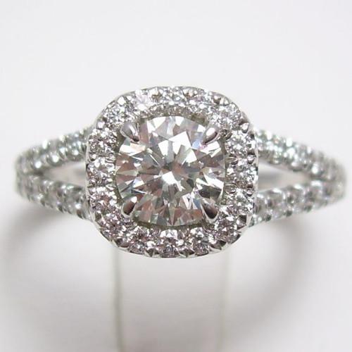 Split Shank Classic Halo Engagement Ring - CDG0188
