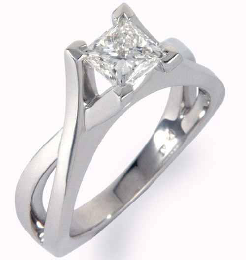 Criss Cross Solitaire Engagement Ring - CDG0191