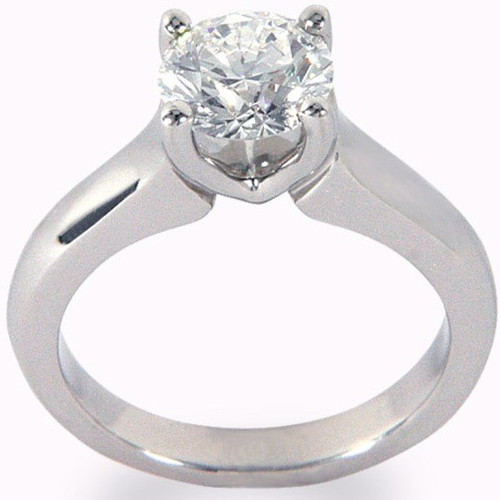 V-Shape Prong Set Solitaire Engagement Ring - CDG0194