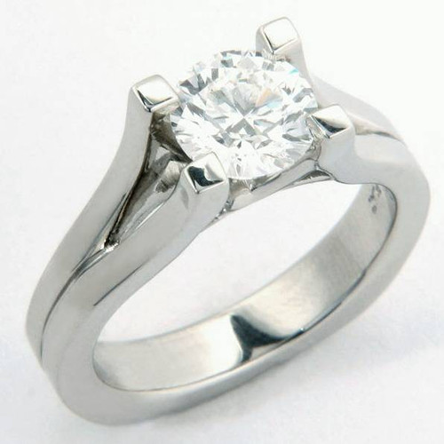 V-Split Shank Solitaire Engagement Ring - CDG0195