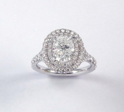 1.33ct Oval Split-Shank Double Halo Ring