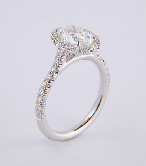 1.50ct Oval Halo Ring