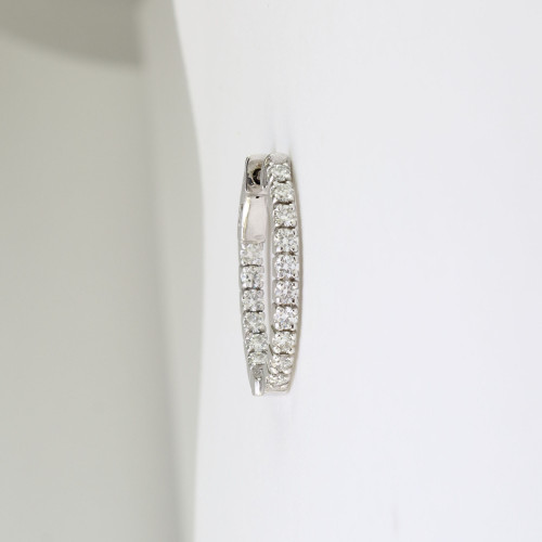 1.18ct Small Oval In-n-out Earrings