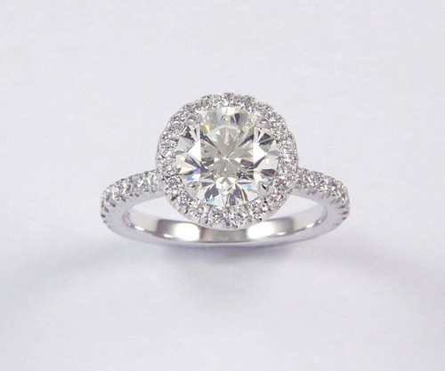 2.01ct Round Halo Ring