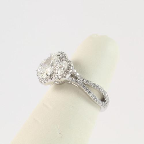 1.50ct Oval Three Stone Ring