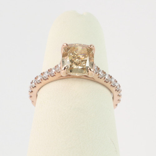2.01ct Champagne Cushion Ring