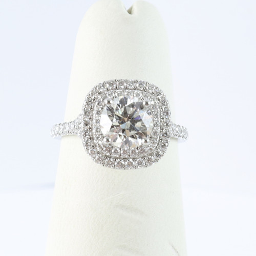 1.20ct Round Double Halo Engagement Ring