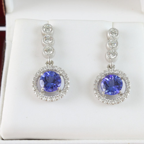 2.68ct tw Tanzanite & Diamond Earrings