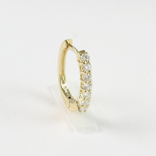 0.50ct tw Yellow Gold Huggie Earrings