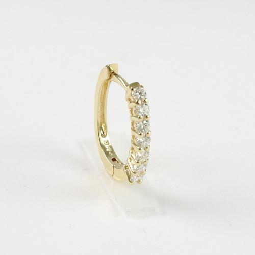 0.50ct tw Yellow Gold Huggie Earrings