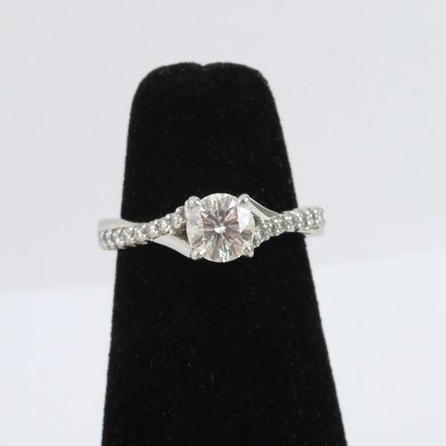 0.50ct Criss Cross Platinum Engagement Ring & Band
