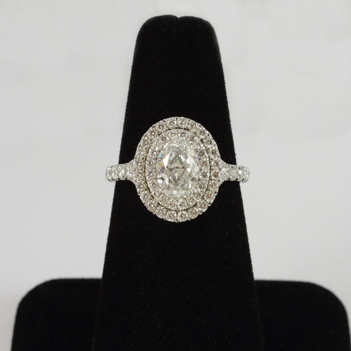 1.20ct Oval Double Halo Engagement Ring
