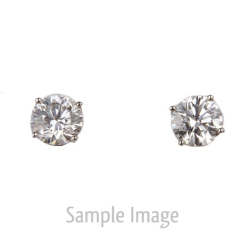 0.61ct tw Round Brilliant Diamond Stud Earrings E-SI2