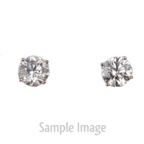 0.61ct tw Round Brilliant Diamond Stud Earrings E-SI2