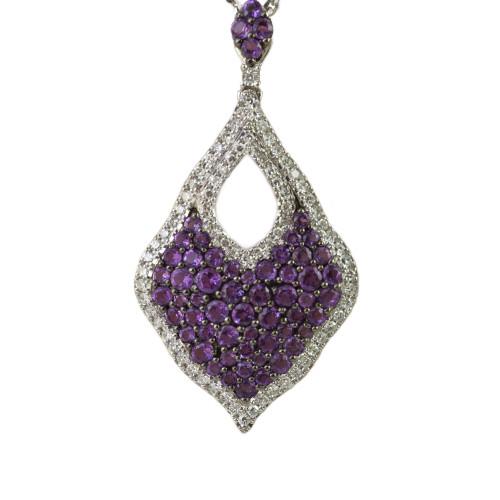 2.33ct tw Sapphire & Diamond Pendant