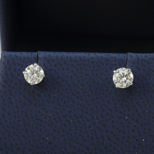 1.00ct GIA Certified Diamond Stud Earrings