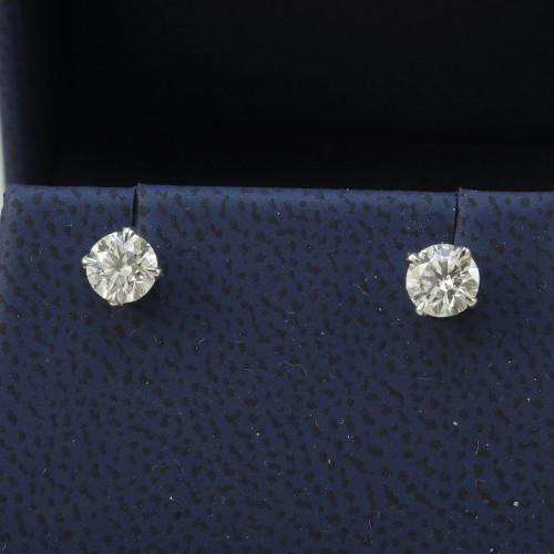 1.00ct GIA Certified Diamond Stud Earrings