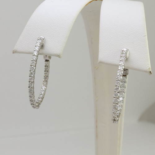 1.70ct Diamond In-n-Out Hoop Earrings