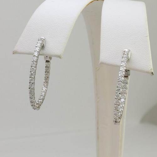 1.70ct Diamond In-n-Out Hoop Earrings
