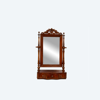 Antique Victorian Small Dressing Table Swing Mirror 1890s