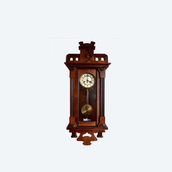 Antique Art Nouveau Wall Clock, 1900s With Gustav Becker Movement
