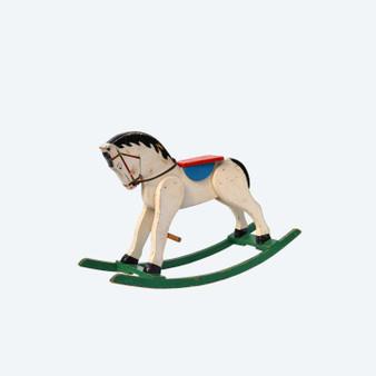 Vintage Swedish Painted Rocking Horse 1950s