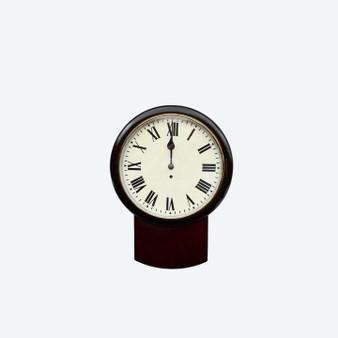 Post-1900 Antique Fuse Drop Dial Mahogany Wall Clock
