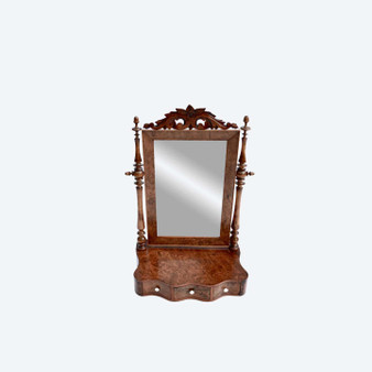 19th Century Antique Victorian Small Dressing Table Swing Mirror