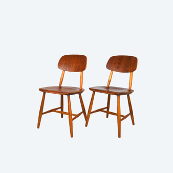 Dining Chairs Paus 28T Martinsson & Axelsson for Nässjö stolfabrik 60s, set of 2